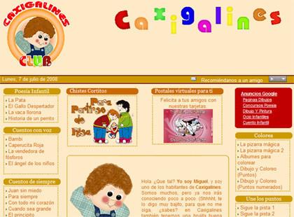 Caxigalines, un mundo infantil en la web