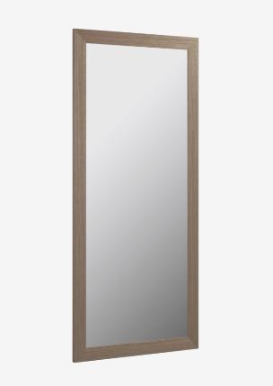 Espejo Yvaine 80,5 x 180,5 cm marco ancho con acabado nogal