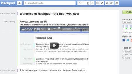HackPad, a medio camino entre Google Docs y un wiki