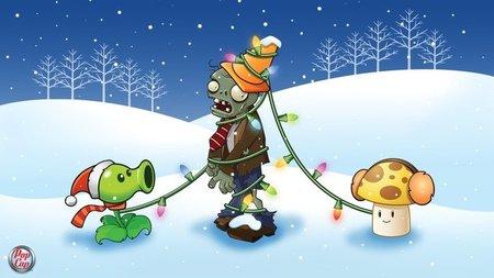 'Plantas contra Zombis' nos desea una feliz Navidad con estos simpáticos fondos de pantalla