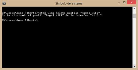 wifi eliminada cmd