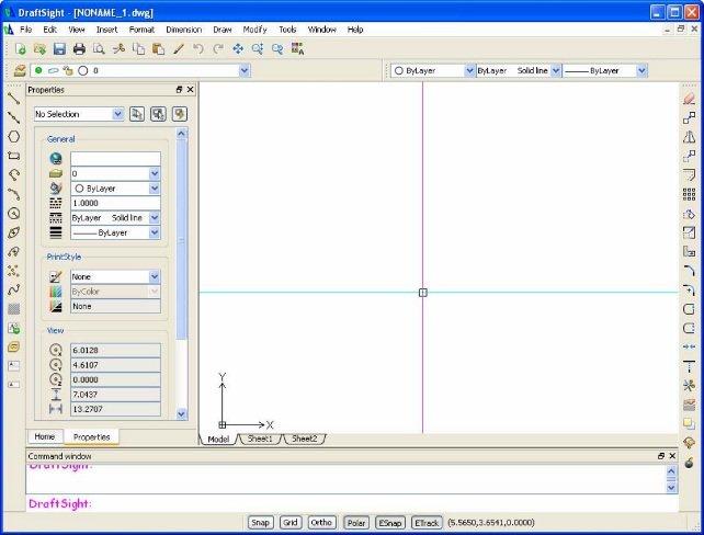 draftsight-interface