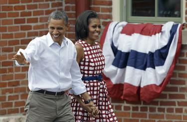 Michelle Obama repite vestido de Asos