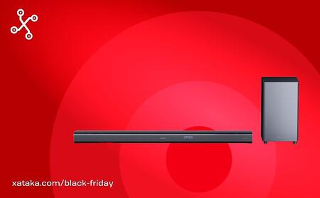 La barra de sonido Sharp HT-SBW800 de 570W y Dolby Atmos está a menos de 300 euros en Amazon por el Black Friday, su precio mínimo