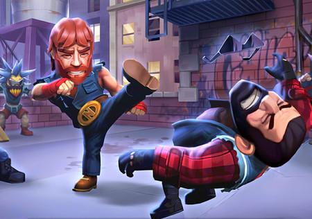 Nonstop Chuck Norris ya disponible en Android: así es el divertido juego de lucha del mítico actor