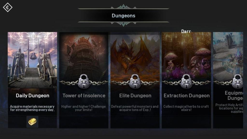 Dungeons Lista