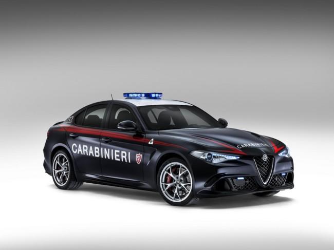 Los Carabinieri italianos manejarán un Alfa Romeo Giulia QV