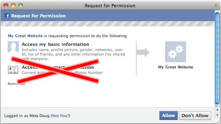 Facebook da marcha atrás y retira la posibilidad de que las aplicaciones obtengan tu teléfono o dirección