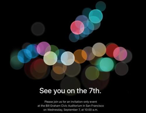 Apple manda las invitaciones de la keynote del iPhone 7, nos vemos el 7 de septiembre