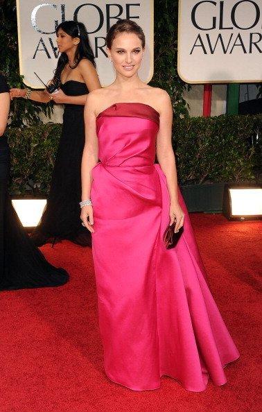 El look de Natalie Portman en los Globos de Oro 2012