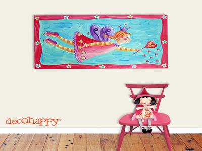 Cuadros pintados a mano para la habitación infantil