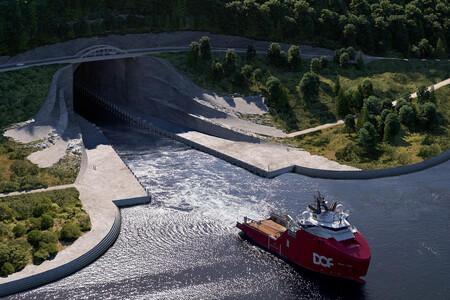 Un túnel para barcos: el loquísimo proyecto de ingeniería de Noruega al fin ha visto la luz