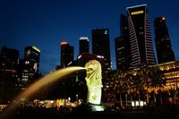 La estatua de Merlion: icono de Singapur