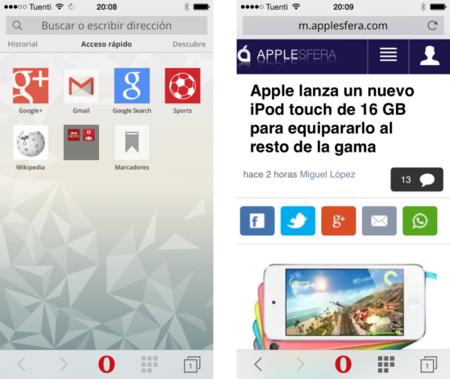Así es Opera Mini 8, el nuevo intento de Opera para tener presencia en iOS