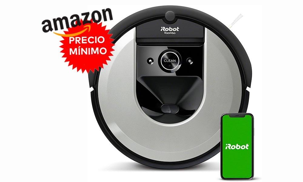 Más barato todavía: ahora Amazon te deja el robot aspirador de gama alta Roomba i7156 a su precio más bajo hasta la fecha, por sólo 478,51 euros