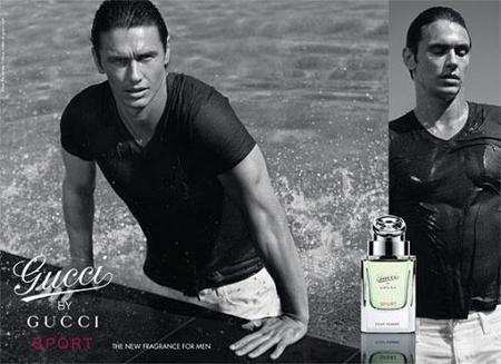 James Franco posando para Gucci Sport