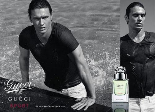James Franco posando para Gucci Sport