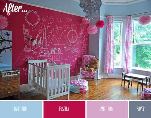 Doce buenas ideas para utilizar pintura de pizarra - Pintura pared pizarra ...