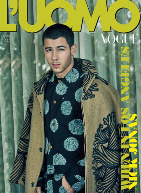 Nick Jonas Luomo Vogue December 2015 Cover