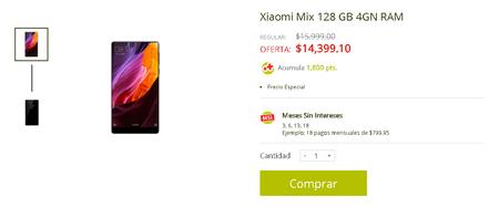 Xiaomi Mi Mix Precio Mexico Soriana