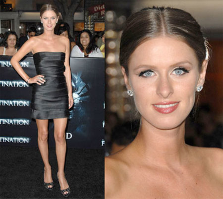 Nicky Hilton en la premiere de Final Destination
