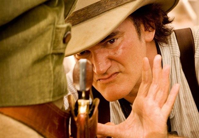 Quentin Tarantino durante el rodaje de su último trabajo: Django Desencadenado