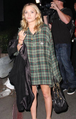 Mary-Kate Olsen y las camisas tartán
