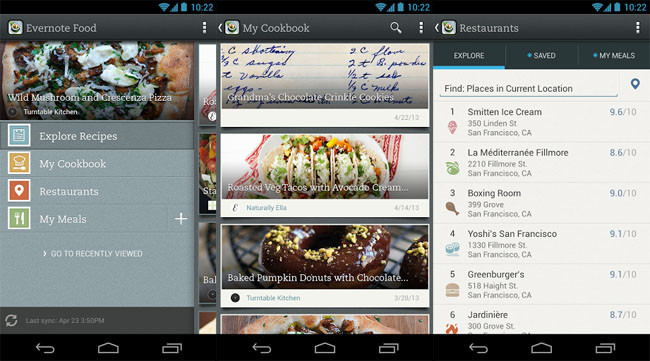 Evernote Food 2.0 para Android