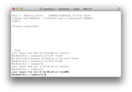 Listado de comandos interesantes para  OS X