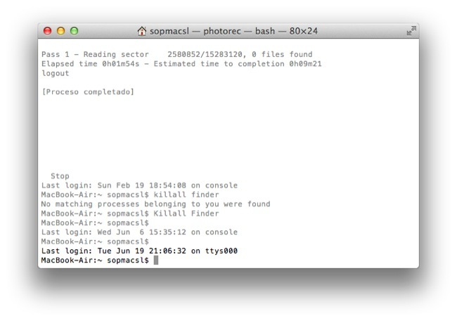 Terminal OS X