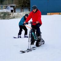 El kit para convertir una bicicleta en una ebike para la nieve existe: cuesta 2.300 euros y ofrece 50 km de autonomía