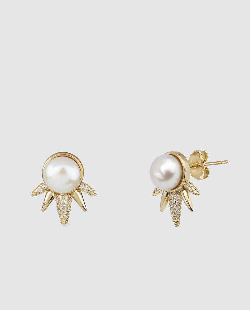 Pendientes Vidal & Vidal by Rosanna Zanetti dorados con perlas