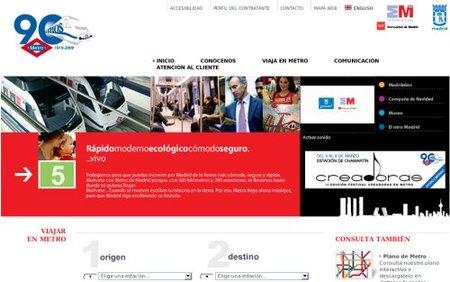 Metro de Madrid estrena web