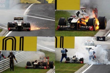 Lotus Renault GP explica las razones de la explosión en el monoplaza de Nick Heidfeld