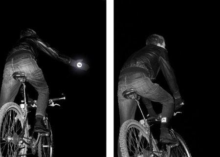 Guantes y calcetines para la seguridad de los ciclistas