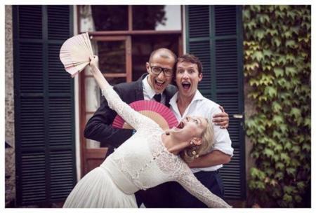 Sofia Wellesley se casa con un vestido de Cortana
