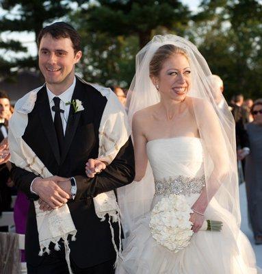 chelsea clinton y su vestido de novia de vera wang