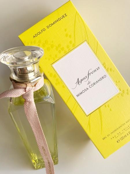 agua fresca mimosa coriandro adolfo dominguez