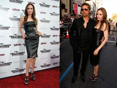 El vestido de cuero de Angelina Jolie en la premiere de Inglorious Basterds