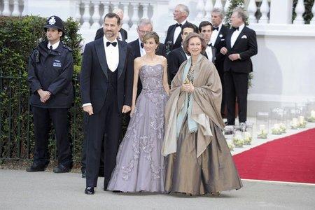Las familias reales asisten a la cena de gala en el Hotel Mandarin Oriental de Londres