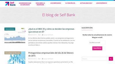 Blog de Self Bank, pasa a conocer el nuevo proyecto de empresa