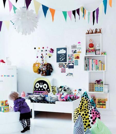 Ideas de cómo decorar las paredes de un dormitorio infantil