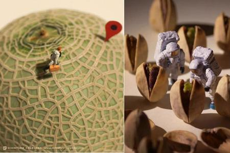 Un delicioso calendario de mundos en miniatura