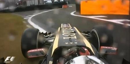 Kimi Raikkonen nos mostró cómo  te puedes equivocar de camino en un circuito