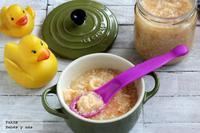 Potito de pollo y verduras hecho en casa. Receta