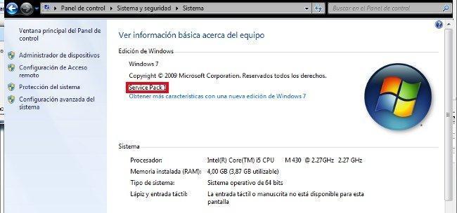 Windows 7 deja de recibir soporte de Microsoft si no tiene instalado el Service Pack