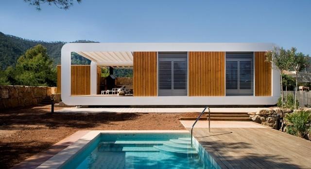 Una casa prefabricada de madera sostenible e inteligente - Refugios de madera prefabricados ...