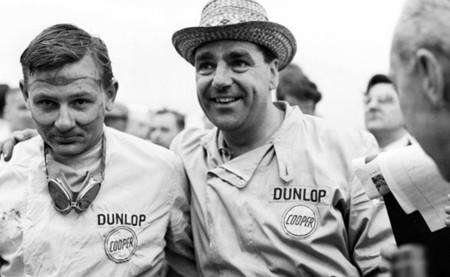 Bruce McLaren y John Cooper GP Estados Unidos 1959