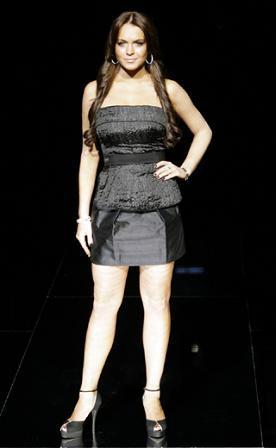 Lindsay Lohan en la Semana de la Moda de Milán