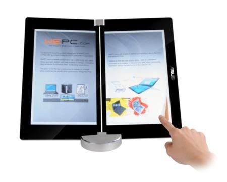 Portátil de Asus con dos pantallas